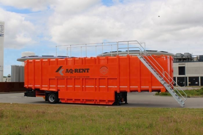 aqrent mobile storage container for rent