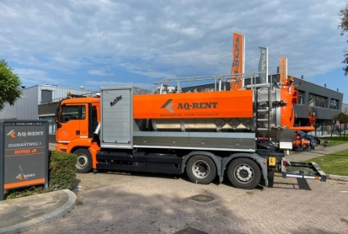 vacuum truck with blower aqrent 2