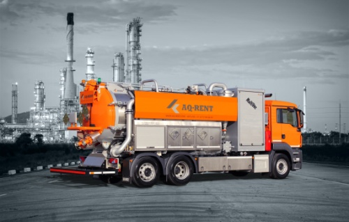 vacuum truck with blower aqrent