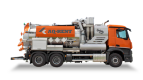 Rent vacuum trucks with cyclone  dry / wet